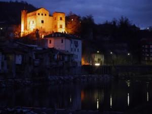 il castello del Carretto by night….