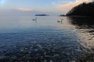 Il lago e l'isola di S.Biagio