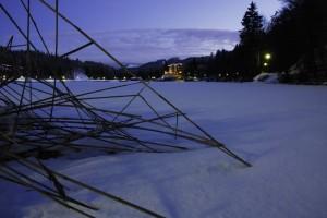 Il lago di Lavarone…ghiacciato