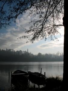 Freddo mattino sul fiume