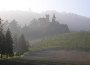 Castello di Forneglio nella nebbia