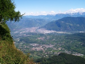 Veduta su Bolzano