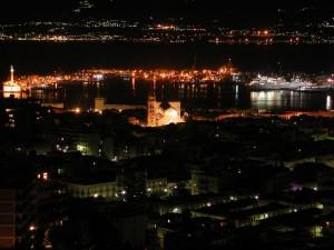 Messina panorama notturno