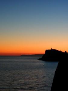 punta crena al tramonto