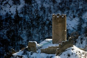Châtel Argent si staglia nell'ombra