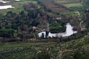 Panorama su i giardini di Ninfa