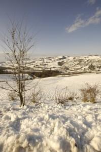 Neve sull'appennino verso Bazzano