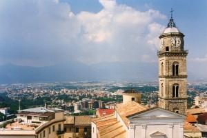 Veduta con il campanile del Duomo…