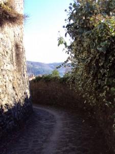 Passeggiata romantica tra le mura della rocca