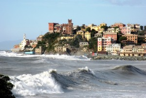 Mareggiata a Genova