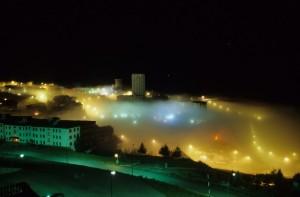 La nebbia avvolge il colle del Sestriere