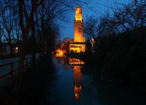 La Torre di Noale all'ora blu