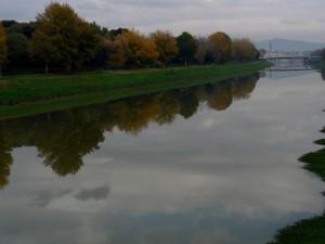La riva destra dell'Arno