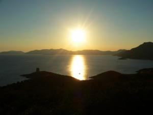 Sole calante verso Capo Teulada