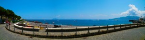 Salina lungo mare