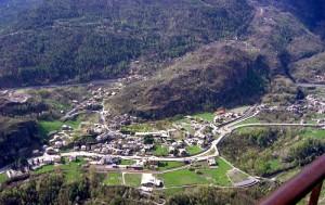 Arvier, panorama visto da Saint-Nicholas