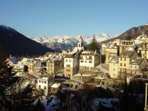 veduta Vocogno con catena Monte Rosa