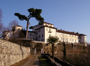 Il Castello di Masino al tramonto