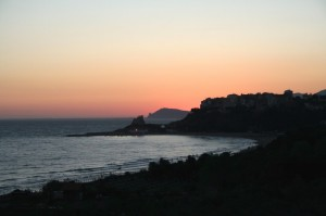 sperlonga all'imbrunire