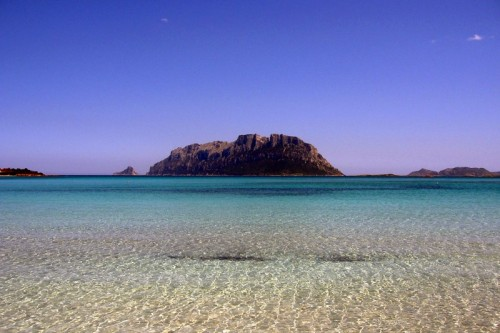 Olbia - Isole di Tavolara e Molara dalla spiaggia di Porto Istana