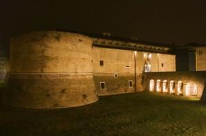 -Pesaro - Rocca Costanza di notte