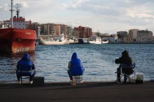 pesca al porto