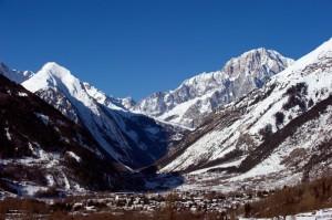 Morgex ed il Monte Bianco