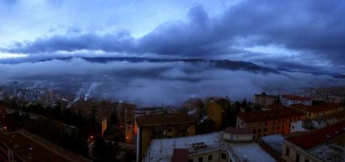 Potenza - Nuvole sopra e nuvole sotto..