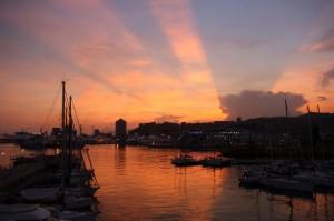 Genova al tramonto