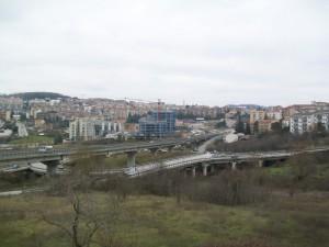 La tangenziale di Campobasso dal Terminal degli autobus.