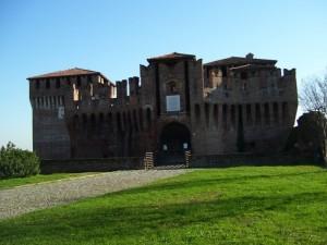vista frontale del castello