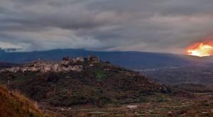 Ultima luce su Castiglione di Sicilia