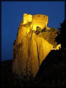 notte alla rocca di San Leo