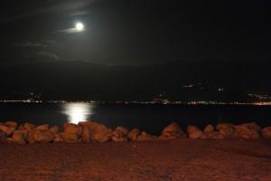 Messina da Reggio Calabria in notturna