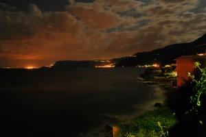 Bagnara Calabra fotografata da Chianalea in notturna