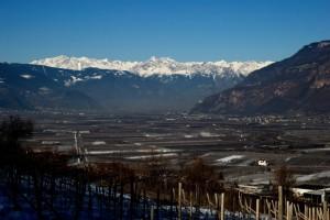 Veduta della val d'Adige