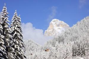 Panorama invernale Zoppè di Cadore