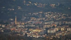 Panorama di Sovizzo Centro - Visto dal Castello della Villa (Romeo)