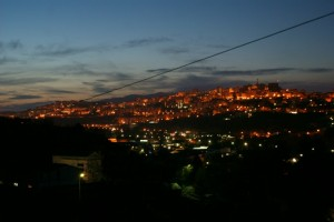 Panorama notturno di Potenza
