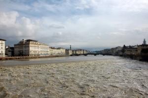 L'Arno in piena
