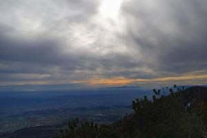 La pianura veneta da monte Palon