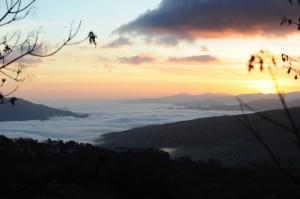 Tramonto panoramica Valtaro