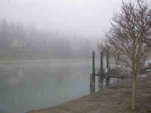 Nebbia sul Po a Torino
