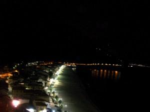 lungo mare scilla  di notte