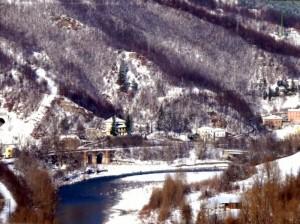 la valle del Taro innevata