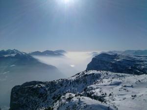 Vista sul Monte paganella.