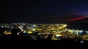 Notturno di Reggio Calabria dalle colline del Pentimele