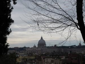 Roma altra veduta panoramica da Viale Trinità dei Monti