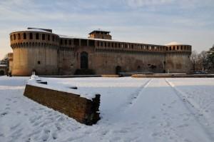 Rocca sotto la neve