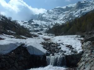 Giù dal Bec Renon: e il ghiaccio si fa acqua